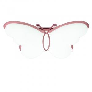 Plafoniera led camera copil  roz forma fluturas cu telecomanda [1]