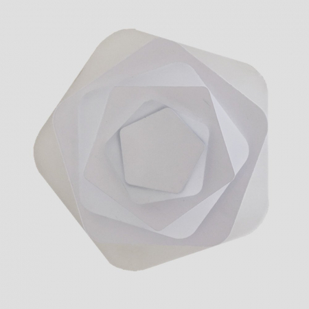 Aplica led slim 44W pentagon [0]