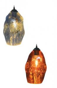 Pendul Sticla 3D, SLC Meteor2/COPPER/CHROME, E27 [0]
