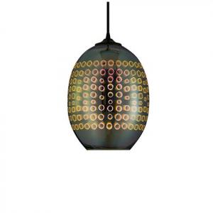 Pendul Sticla 3D, Oval, SLC Radian, E27 [0]