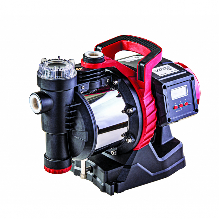 "Pompa cu autoamorsare 1100W 1""max 77L/min 45m INOX cu filtru de apa si afisaj LCD RDP-WP45 [0]"