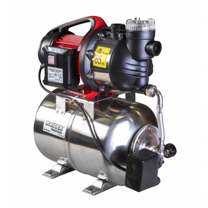 """Hidrofor cu rezervor inox 1300W x 1"""" 80 l/min 48 m RD-WP1300S [0]"""