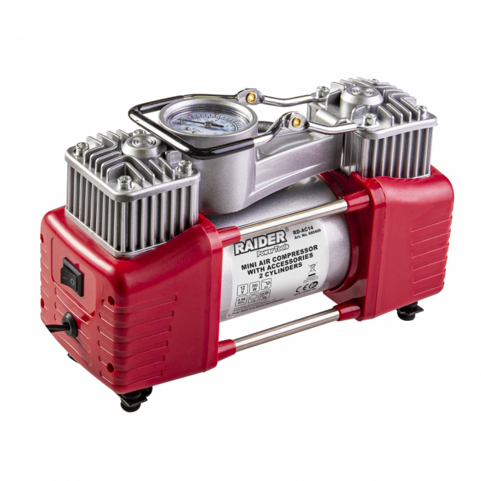 Compresor 12V x 300W 70L/min 2 cilindrii cu accesorii RD-AC14 [0]