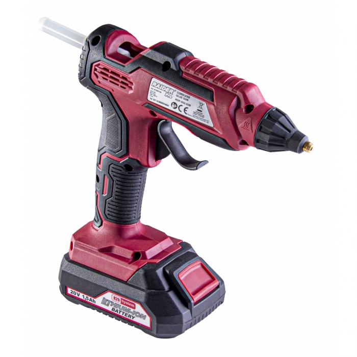 R20 Pistol de lipit cu batoane de silicon ø11 pentru baterie Li-Ion Solo RDP-SGLG20 [1]