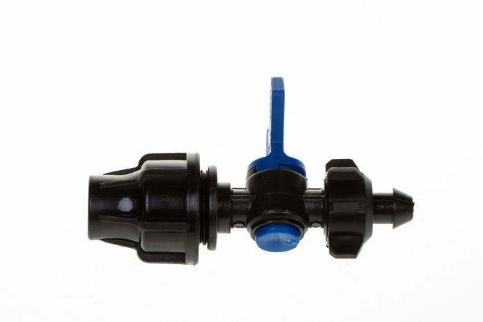 Conector cu robinet Q16  - pentru furtun picurare [2]