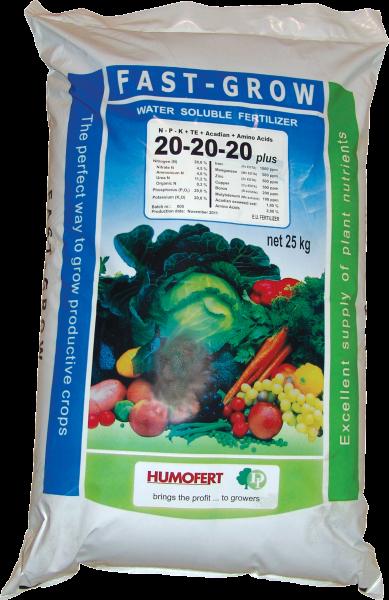 Ingrasamint FAST GROW plus 6-12-44+2% MgO+TE+Aminoacizi+ alge marine - 25 kg 0