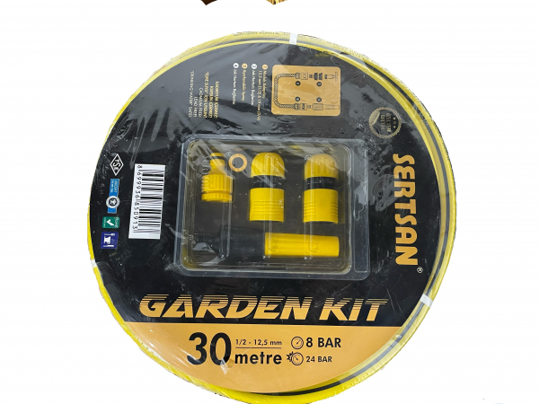 Kit furtun pentru grădină 12.5mm (1/2'') x 30m [0]
