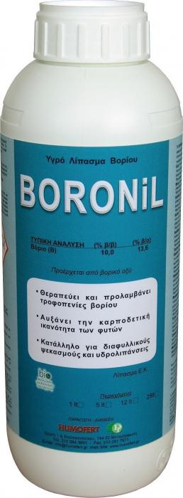 Îngrășământ lichid cu bor - BORONIL 0