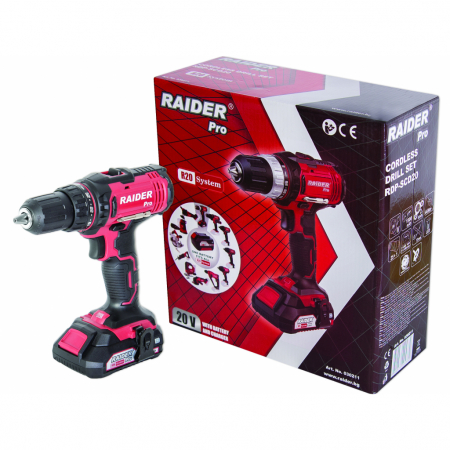 R20 Masina de gaurit / insurubat 20V 1 X 1.5Ah 13mm 44Nm RDP-SCD20 Set [2]