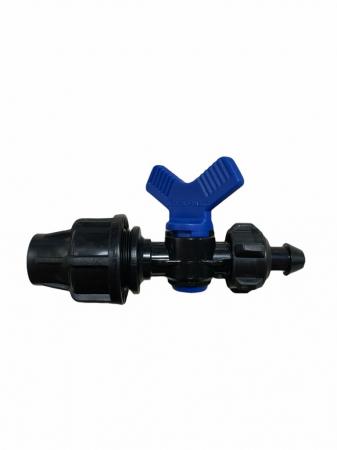 Conector cu robinet Q16  - pentru furtun picurare