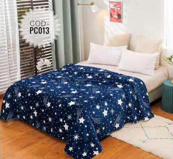 Pătură pufoasă de tip cocolino, Albastru, Stele 200x230 [0]