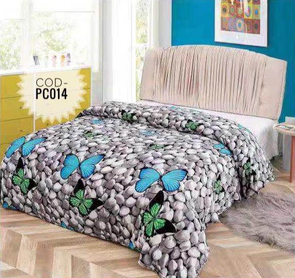Pătură pufoasă de tip cocolino, Gri, Pietre, 200x230 [0]