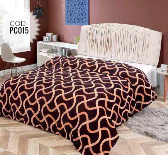 Pătură pufoasă de tip cocolino, Maro, 200x230 [0]