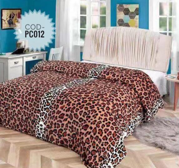 Pătură pufoasă de tip cocolino, Maro, Animal Print, 200x230 [0]