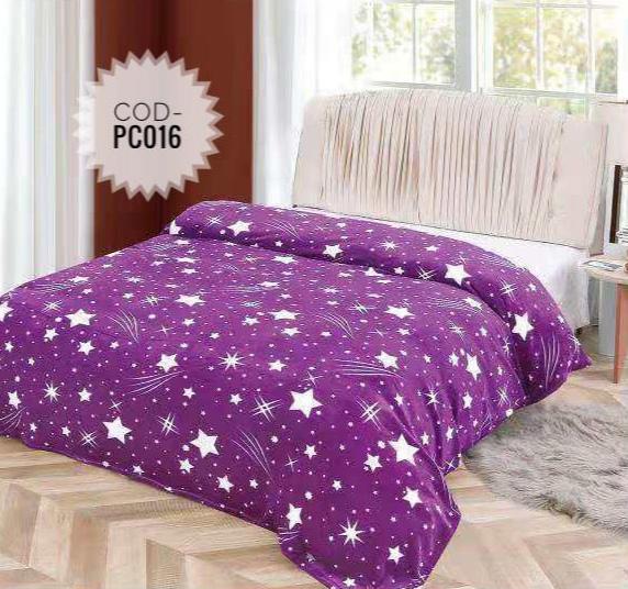 Pătură pufoasă de tip cocolino, Mov, Stele 200x230 [2]