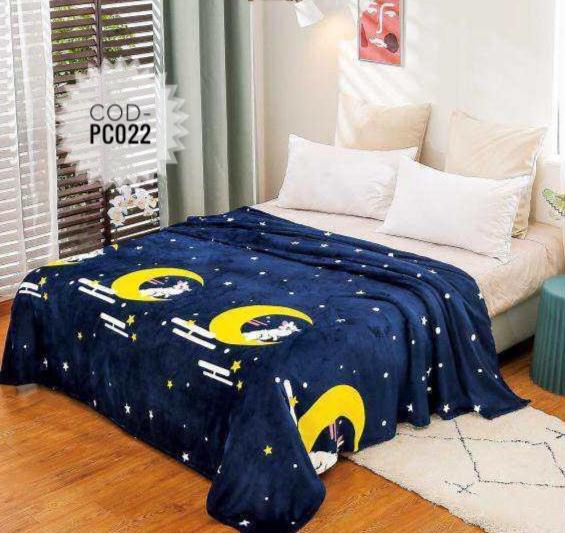 Pătură pufoasă de tip cocolino, Multicolor, Iepurasi, 200x230 [0]
