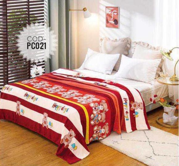 Pătură pufoasă de tip cocolino, Multicolor, Ursuleti, 200x230 [0]