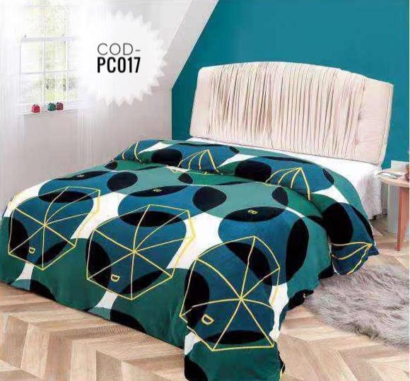 Pătură pufoasă de tip cocolino, Verde, 200x230 [0]