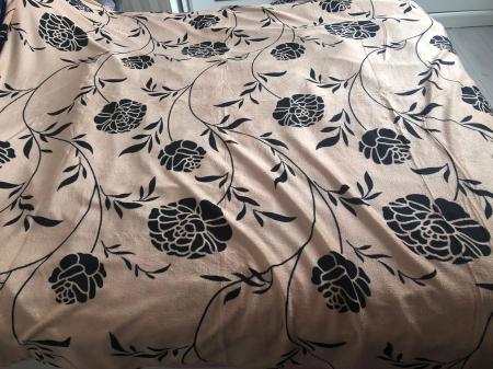 Pătură pufoasă de tip cocolino, Bej, Floral, 200x230 [1]