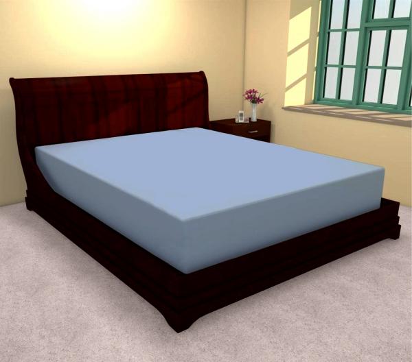 Huse de pat bumbac 100% albastru 180 X 200 0