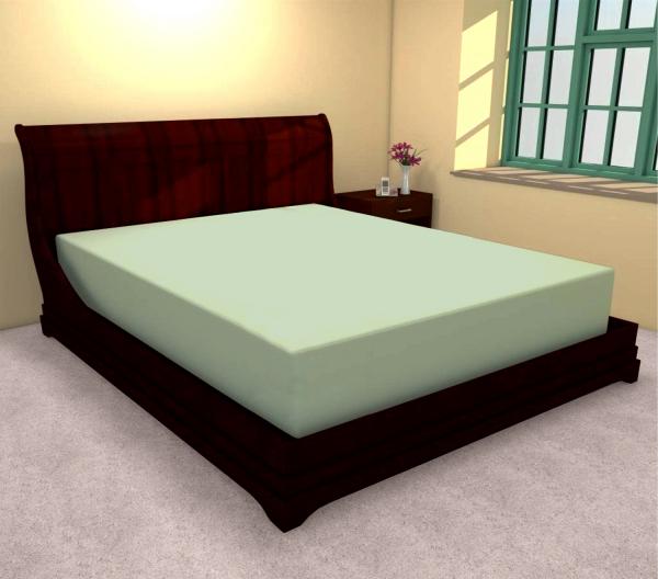 Huse de pat bumbac 100% verde