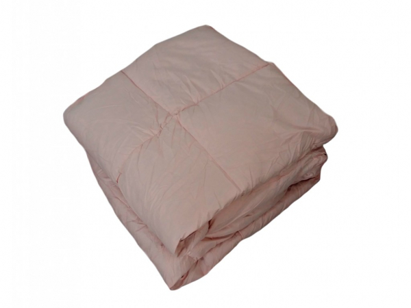 Pilota matlasata roz cu puf de gasca 200X220 cm 0