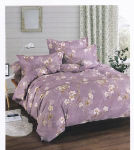 Lenjerie de pat Casa New Fashion liliac cu flori