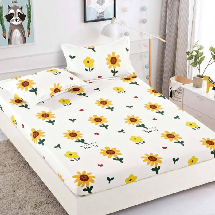 Husa de pat din Finet cu elastic+ 2 fete de perna-HF11 [1]