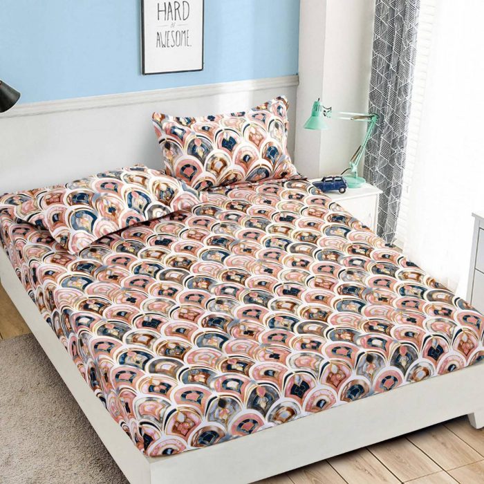 Husa de pat din Finet cu elastic+ 2 fete de perna-HF15 [1]