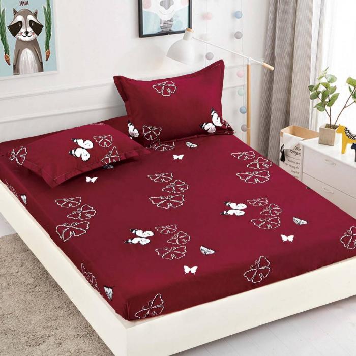 Husa de pat din Finet cu elastic+ 2 fete de perna-HF16 [0]