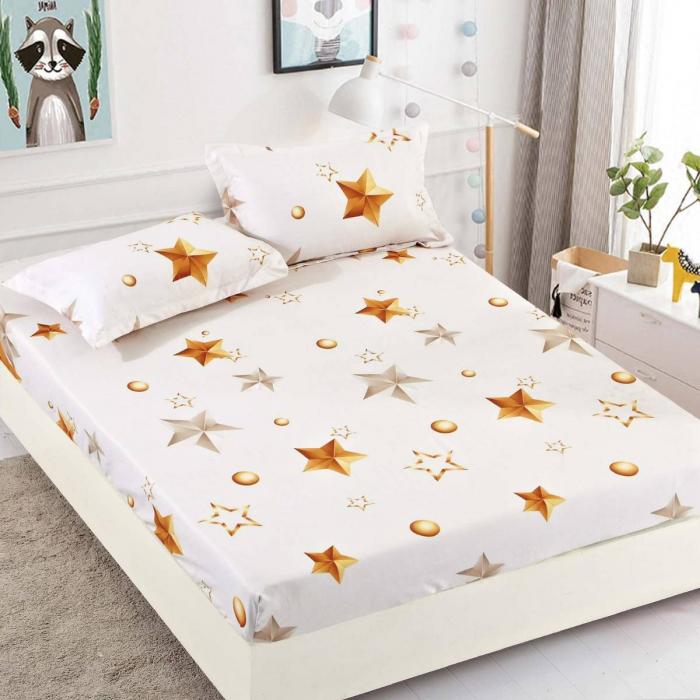 Husa de pat din Finet cu elastic+ 2 fete de perna-HF19 [0]