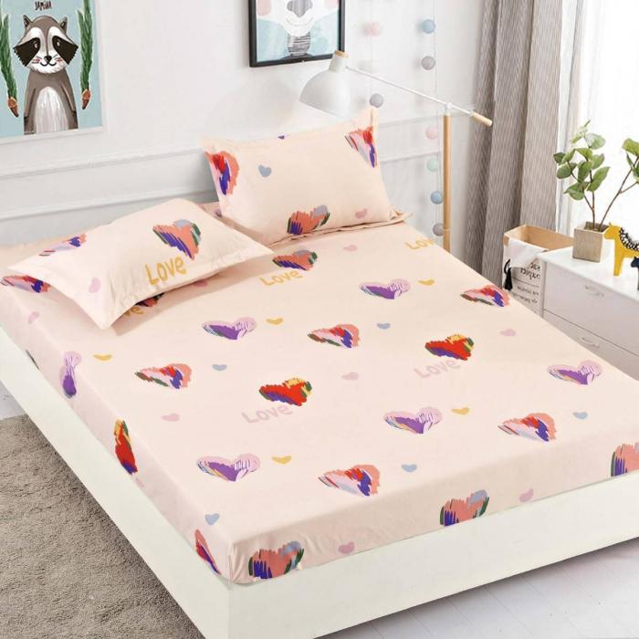 Husa de pat din Finet cu elastic+ 2 fete de perna-HF24 [0]