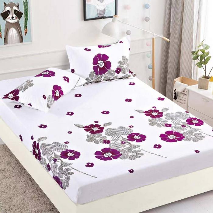 Husa de pat din Finet cu elastic+ 2 fete de perna-HF29 [1]