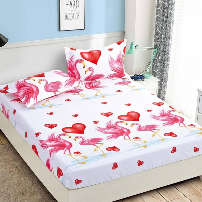Husa de pat din Finet cu elastic+ 2 fete de perna-HF34 [0]