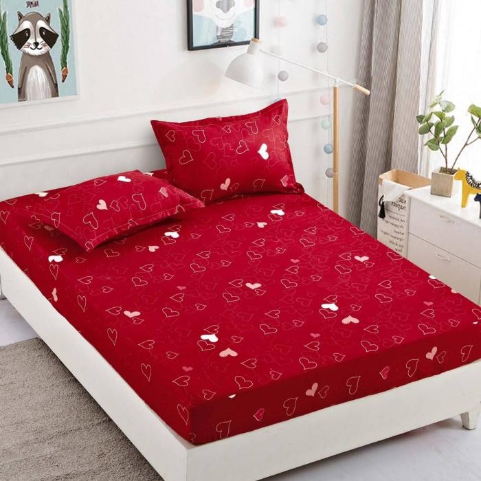 Husa de pat din Finet cu elastic+ 2 fete de perna-HF37 [0]