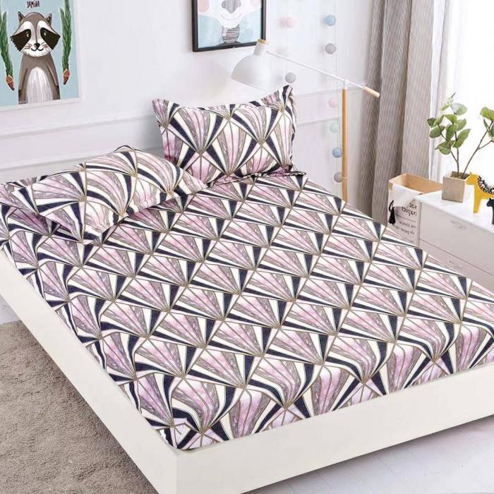 Husa de pat din Finet cu elastic+ 2 fete de perna-HF39 [0]