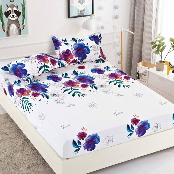 Husa de pat din Finet cu elastic+ 2 fete de perna-HF4 [0]