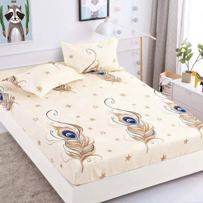 Husa de pat din Finet cu elastic+ 2 fete de perna-HF41 [0]