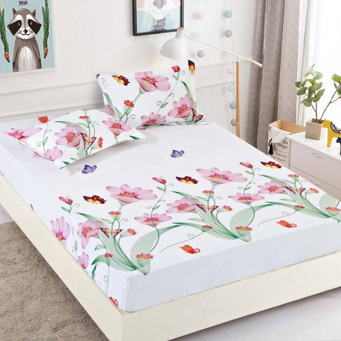 Husa de pat din Finet cu elastic+ 2 fete de perna-HF42 [0]
