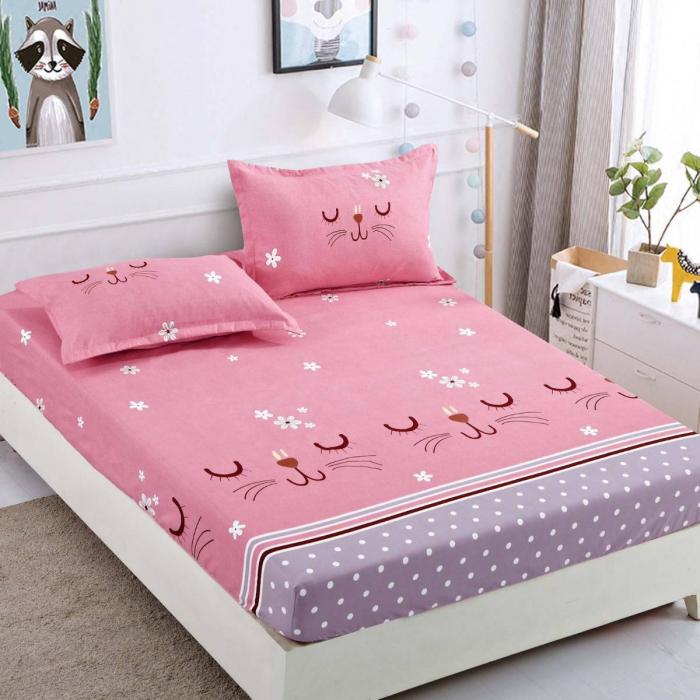 Husa de pat din Finet cu elastic+ 2 fete de perna-HF43 [0]