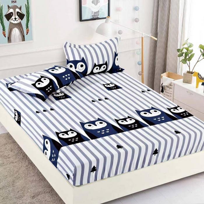 Husa de pat din Finet cu elastic+ 2 fete de perna-HF46 [0]