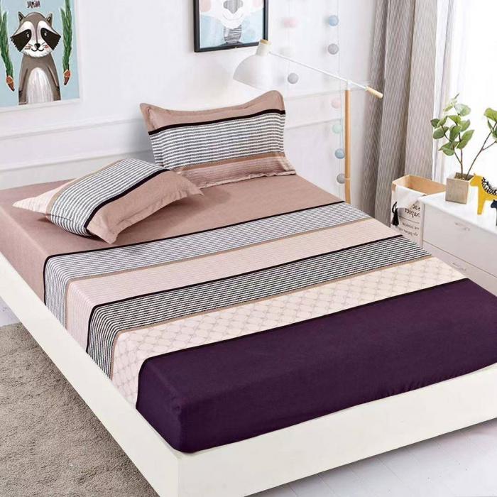 Husa de pat din Finet cu elastic+ 2 fete de perna-HF48 [0]