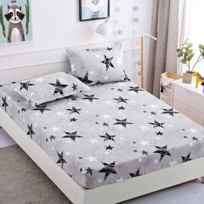 Husa de pat din Finet cu elastic+ 2 fete de perna-HF59 [0]