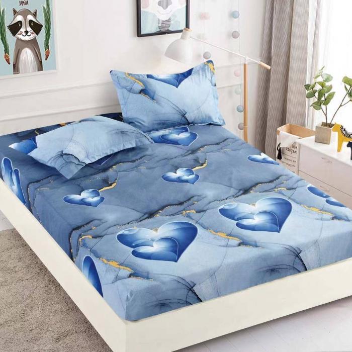 Husa de pat din Finet cu elastic+ 2 fete de perna-HF60 [0]