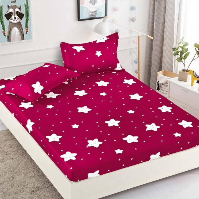 Husa de pat din Finet cu elastic+ 2 fete de perna-HF6 [0]