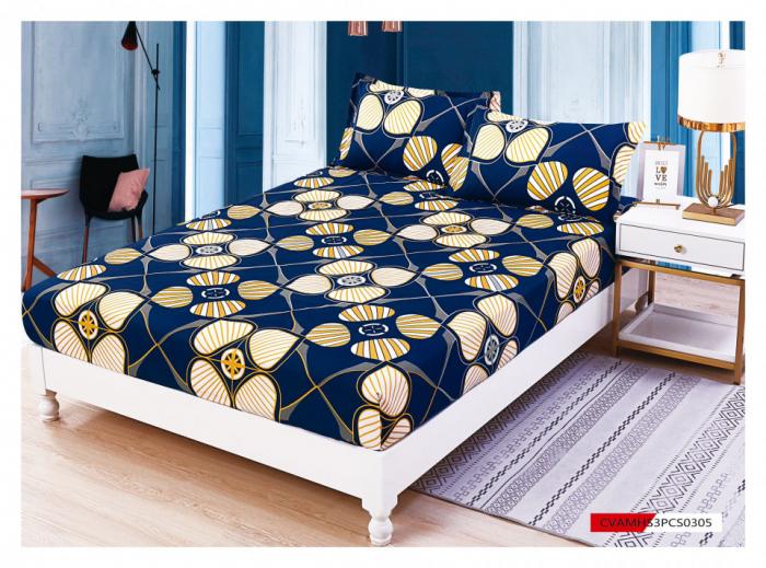 Husa de pat din Finet cu elastic+ 2 fete de perna-HF63 [0]