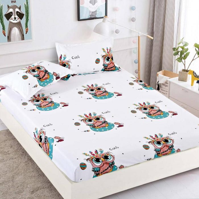 Husa de pat din Finet cu elastic+ 2 fete de perna-HF7 [0]