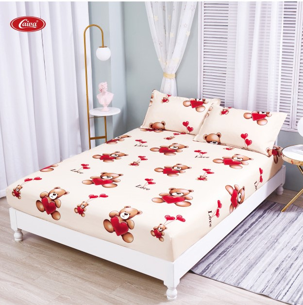 Husa de pat din Finet cu elastic+ 2 fete de perna-HF71 [0]