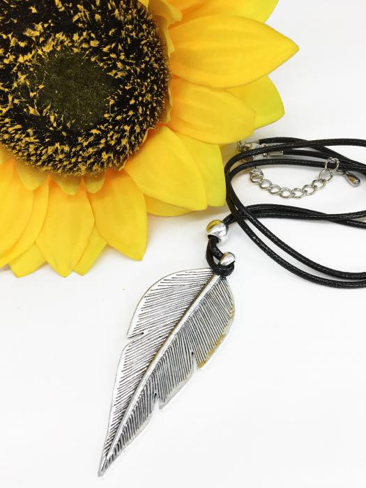 "Colier ""Silver Feather"" 0"