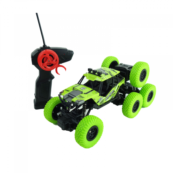 Monster Off-Road, 4x4, 8 roti de cauciuc, 27 cm, verde 0